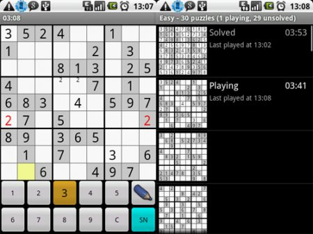 Open Source-игры для Android: GOdroid, OpenSudoku, Scrambled Net и Andor's Trail