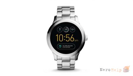 Fossil Q Founder - сверяем время по Android