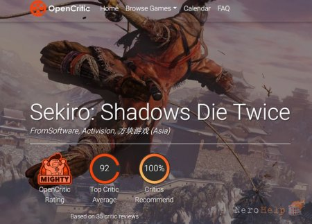 Первые оценки Sekiro: Shadows Die Twice - журналисты в настоящем восторге от игры